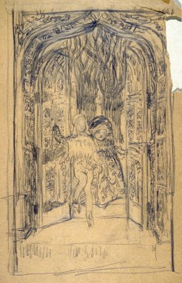 [Chidren at the garden gates ] - One from the Studies and Sketches for the Murals in the New Amsterdam Theatre, New York