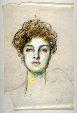 [female head] - One from the Studies and Sketches for the Murals in the New Amsterdam Theatre, New York