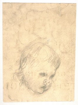 [Head of a child] - One from the Studies and Sketches for the Murals in the New Amsterdam Theatre, New York