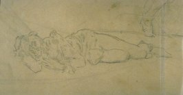 [Reclining Figure] - One from the Studies and Sketches for the Murals in the New Amsterdam Theatre, New York
