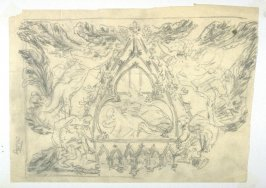 [Trefoil] - One from the Studies and Sketches for the Murals in the New Amsterdam Theatre, New York
