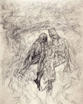 [Couple in medieval dress ] - One from the Studies and Sketches for the Murals in the New Amsterdam Theatre, New York
