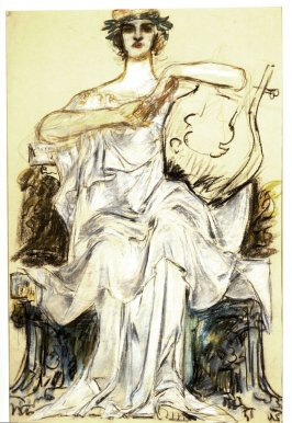 Untitled (Seated woman with a musical instrument)