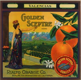 Orange crate label-Golden Sceptre brand