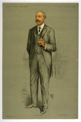 """The Conciliator"" (Sir George R. Askwith.), Men of the Day No. 1302, from Vanity Fair Supplement"