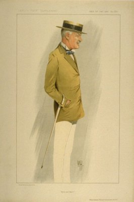 """Arms and Sport"" (Major General, The Lord Cheylesmore, K.C.V.O.), Men of the Day, from Vanity Fair Supplement No. 2281"