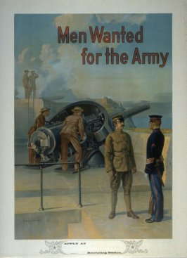 Men Wanted for the Army - World War I poster