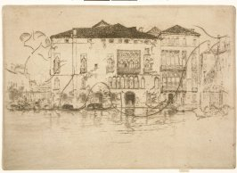The Palaces, cancelled plate for pl. 9 from the portfolio Venice, a Series of Twelve Etchings (London: The Fine Art Society, 1880)