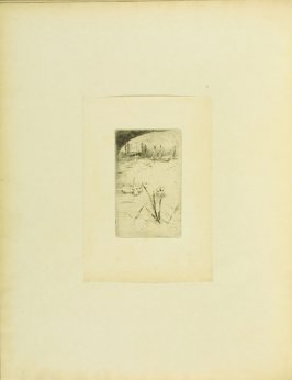 """""""The Swan and the Iris,"""" facing pg. 23, in the book Cecil Lawson: A Memoir by Edmund W. Gosse (London: The Fine Art Society, 1883)"""