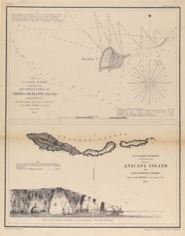 View of the Eastern Extremity of Anacapa Island from the Southward
