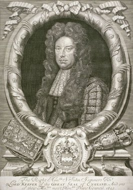 Portrait of the Right Hon. Sir John Sommers, Lord Keepr of the Great Seal of England, 1651-1761