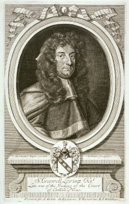 Portrait of Sir Creswell Levinz, one of the judges of the Court of Common Pleas