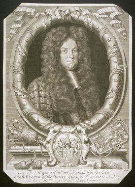 Portrait of The Right Hon Sr. Nathan Wright, Kt., Lord Keeper of the Great Seal of England