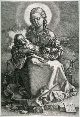 Reverse copy after Dürer's The Virgin and Child
