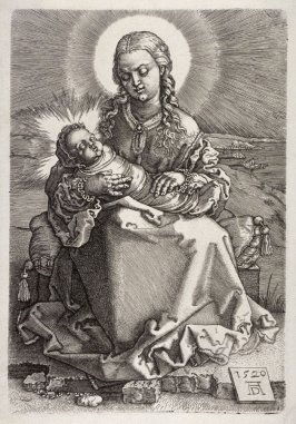 The Virgin with the Child in swaddling clothes
