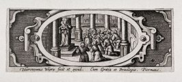 Miniature plate of Life of the Virgin (Plate 4)