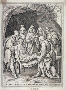 Christ carried by Joseph of Arimathea into the Tomb, from a series of The Passion