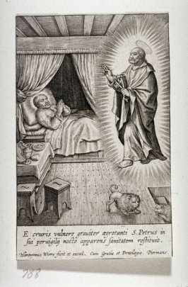 St. Peter appearing to St. Ignatius of Loyola