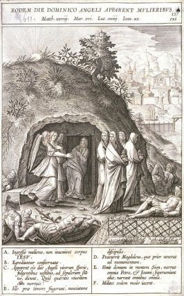The Holy Women Leaving the Tomb of Christ, plate 137 from P. Jeronimo Nadal, Evangelicae Historiea Imagines (Antwerp, 1593)