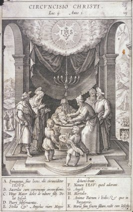 The Circumcision, plate 5 from P. Jeronimo Nadal, Evangelicae Historiea Imagines (Antwerp, 1593)
