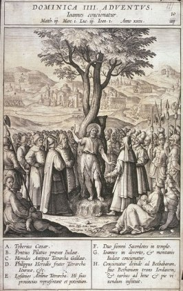 St. John Preaching to the Multitude, plate 10 from P. Jeronimo Nadal, Evangelicae Historiea Imagines (Antwerp, 1593)