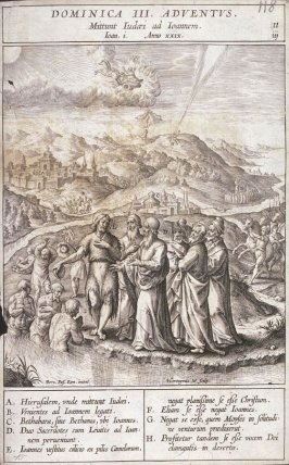 St. John Baptizing in the River Jordan, plate 11 from P. Jeronimo Nadal, Evangelicae Historiea Imagines (Antwerp, 1593)