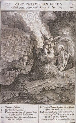 The Agony in the Garden, plate 107 from P. Jeronimo Nadal, Evangelicae Historiea Imagines (Antwerp, 1593)
