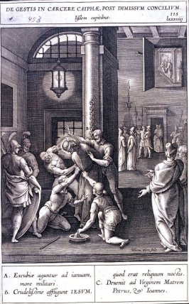 The Flagellation, plate 115 from P. Jeronimo Nadal, Evangelicae Historiea Imagines (Antwerp, 1593)