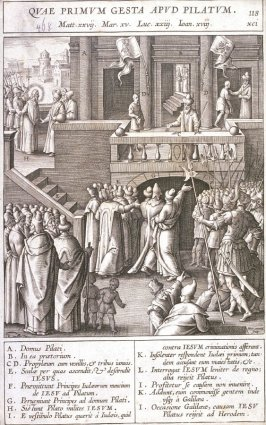 Christ Before Pilate, plate 118 from P. Jeronimo Nadal, Evangelicae Historiea Imagines (Antwerp, 1593)