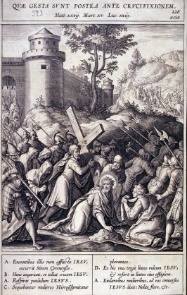 Christ Collapsing Under the Cross, plate 126 from P. Jeronimo Nadal, Evangelicae Historiea Imagines (Antwerp, 1593)