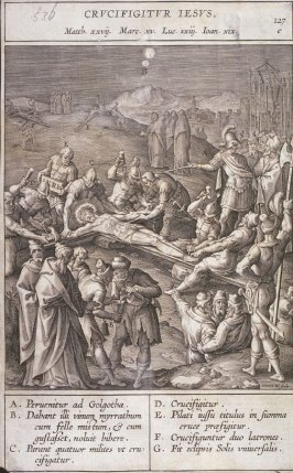 The Crucifixion, plate 127 from P. Jeronimo Nadal, Evangelicae Historiea Imagines (Antwerp, 1593)