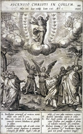 One of 17 Engravings out of the Evangelica Historias Inagiica [Ascensio Christi ...]