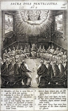 One of 17 Engravings out of the Evangelica Historias Inagiica [Sacra Dies Pentecoste ...]