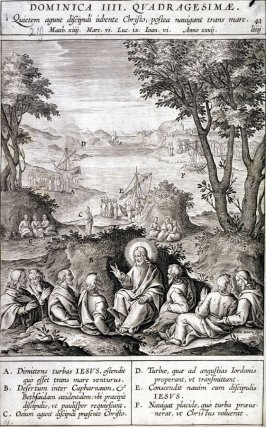 Christ Resting Among His Disciples, plate 41 from P. Jeronimo Nadal, Evangelicae Historiea Imagines (Antwerp, 1593)