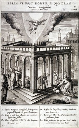 The Healing of a Lame Man, plate 47 from P. Jeronimo Nadal, Evangelicae Historiea Imagines (Antwerp, 1593