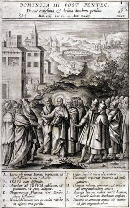 The Parable of the Lost Sheep, plate 65 from P. Jeronimo Nadal, Evangelicae Historiea Imagines (Antwerp, 1593)