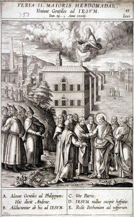The Greek Before Christ, plate 89 from P. Jeronimo Nadal, Evangelicae Historiea Imagines (Antwerp, 1593)