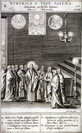 Christ Teaching the Perfection of the Prayer, plate 106 from P. Jeronimo Nadal, Evangelicae Historiea Imagines (Antwerp, 1593)