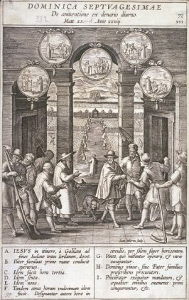 One of 17 Engravings out of the Evangelica Historias Inagiica [Dominica Septuagesimae...]