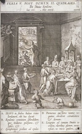One of 17 Engravings out of the Evangelica Historias Inagiica [Feria V Post...]