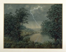 Nocturnal Landscape with Thunderstorm