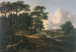 Landscape with Huntsman and Dogs