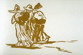 Untitled (two figures), on colophon page in the book, Zapata by John Steinbeck (Covelo CA: Yolla Bolly Press, 1991