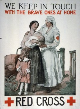 We Keep in Touch with the Brave Ones at Home - World War I Poster