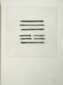 """""""Chin/Innocence"""" (plate no. 6) in the book A Suite of Daze by William T. Wiley (Chicago: Landfall Press Inc., 1977)."""