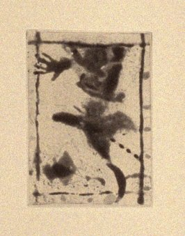 """""""Rim Rat"""" (plate no. 1) in the book A Suite of Daze by William T. Wiley (Chicago: Landfall Press Inc., 1977)."""