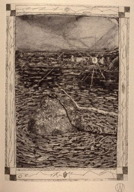"""""""Beginning Passes"""" (plate no. 3) in the book A Suite of Daze by William T. Wiley (Chicago: Landfall Press Inc., 1977)."""