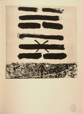 """Chin/Obstruction"" (plate no. 8) in the book A Suite of Daze by William T. Wiley (Chicago: Landfall Press Inc., 1977)."