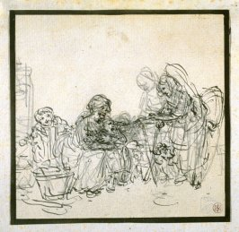 Genre Scene: Four Figures 