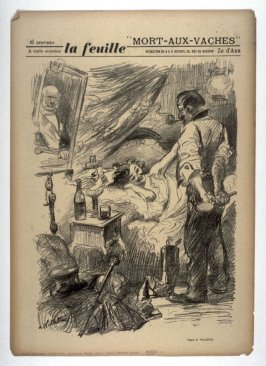 """Mort-aux-vaches"" (""Death to Cows""), cover for La Feuille no. 8 (24 March 1898)"
